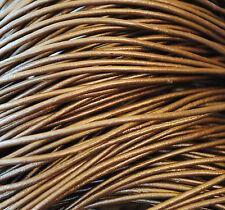 ¡¡¡OFERTA 2x1!!! 5 metros de cordón de cuero 2mm, color Bronce