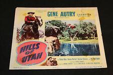 1951 Hills of Utah Lobby Card 51/46 Gene Autry Elaine Riley (C-5)