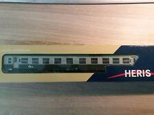 Heris HO voiture SNCF USI mixte 1ère/2nde neuve livrée vert/gris logo ter