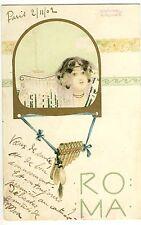 Postkarte Raphael Kirchner 1902 Roma Jugendstil art nouveau Mode femme girl