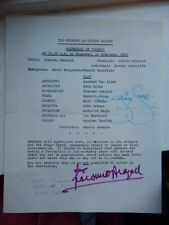GWYNETH JONES - GIACOMO ARAGALL  - OPERA SINGERS  AUTOGRAPHS