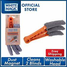 White Magic Mini Blind Duster Flexible Eco Cloth Fibres Blind Cleaner Brush x2