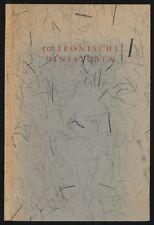 Martin Kessel: 50 ironische Minaturen (1960). Nummeriert/signiert