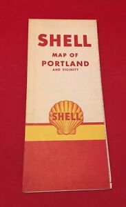 Vintage 1940/50's Shell Road Map Of Portland And Vicinity