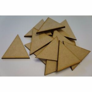10 x MDF Wooden Triangle Shapes