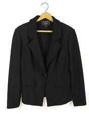 St. John Sz 10 L Black Boucle Knit One-Button Blazer Jacket for Nordstrom MINT