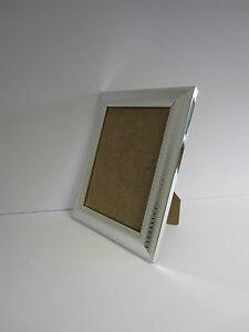 Two Tone Silver 4x5 Picture Photo frame hang  Stand