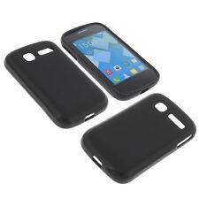 Funda para Alcatel One Touch Pop C1 Funda Protectora de Móvil TPU Goma Negro