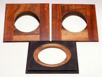 """1 LENS BOARD 4.5""""x 4.5"""" for Eastman 2D/5x7"""" for Copal #3 made of Solid Tigerwood"""