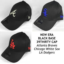 NEW ERA MLB BLACK BASE 39THIRTY CAP - ATLANTA BRAVES, WHITE SOX, LA DODGERS