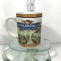 Ghirardelli Mug Hot Chocolate Cocoa Ceramic Octagon Shaped Colorful USA Tea Cup