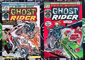 Ghost Rider #3 & 4 1973 Marvel Comics Johnny Blaze 1st Hell Cycle New Powers