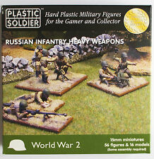 15mm WWII Russian Infantry Heavy Weapons Plastic Soldier Company  WW2015004