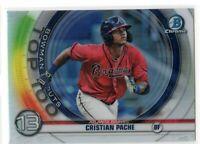 2020 Bowman Chrome Cristian Pache Scouts Top 100 Rookie RC #BTP-13 Braves