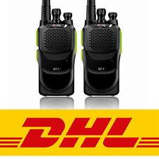 2*Pofung GT-1 UHF 400-470MHz 5W 16CH FM Two-way Ham Radio Talkie Walkie EU STOCK