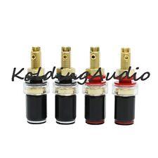 4PCS Copper Binding Post Socket Amplifier Speaker Terminal Gold Plated Screw