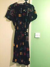 Guran Vintage Negro Vestido Talla 12