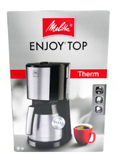 Melitta 1017-08 Enjoy Top Therm Filter-Kaffeemaschine, Edelstahl, schwarz OVP