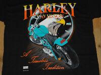 "VTG Harley Davidson ""A Timeless Tradition"" Fun Wear Grapic TShirt Mens Large USA"