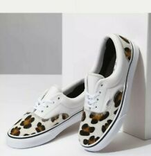 Vans Era Calf Hair Mens Sz 7.5 /Women Sz 9 Leopard Skate Shoes