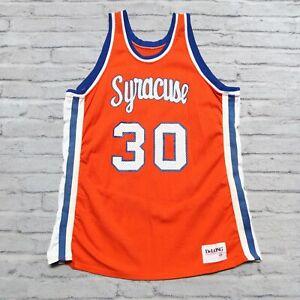 Vintage Rare Syracuse Orange Basketball Jersey Used Game Worn Team Issued
