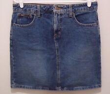 """l.e.i. Denim Skirt Womens Size 11 Short Jean No Slits W 33""""  #1746"""