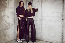 Alexander Wang x H&M TEARAWAY Real Leather Joggers Sz 10 (EUR 36)