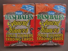 1987 FLEER BASEBALL'S AWARD WINNERS LOT OF TWO SETS NEW SEALED GWYNN SANDBERG