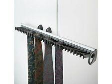 1 GUARDAROBA SCORREVOLE PORTA tie rack nero e argento detiene 32 cravatte P & P Inc