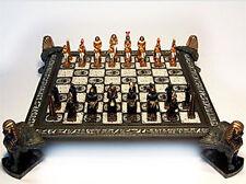 YTC Summit 8045 Pewter Egyptian Chess Set C-4