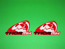 THOR MX MOTOCROSS JERSEY GLOVES PANTS HELMET RED & WHITE SLANT STICKERS DECALS