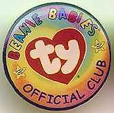 TY Beanie Baby ty.com TY BBOC LOGO Lapel Pin Badge Pins