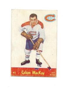 1955-56 Parkhurst:#41 Calum Mackay,Canadiens