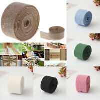 10M Burlap Ribbon Roll Garland Hessian Jute Fabric Rustic Wedding Party Decor