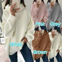 Warm Women Fleece Fluffy Top Sweatshirt Coat Pullover Thick Tunic Sweater
