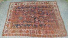 Antique Tribal Oriental Rug 5x7+ Qashqai Shekarlu Geometric Nomadic Pre-1900