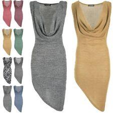 Cowl Neck Sleeveless Draped Dresses for Women