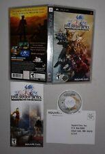 Final Fantasy Tactics The War Of The Lions (Sony PSP) CIB w/ Manual SHIPS FREE