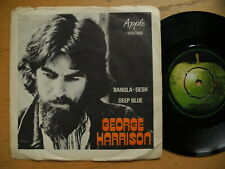 "GEORGE HARRISON/Beatles Bangla - Desh / Deep Blue 45 7"" single 1971 Sweden VG+"