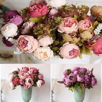 faux bouquet fleurs artificielles mariage de décoration la pivoine de soie