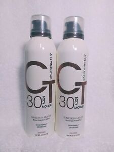 California Tan 30 SPF Sunscreen Mousse-6 oz. (2 Units)