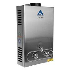 8L 2GPM Hot Water Heater Propane LPG Gas 8 L/min Water Tank Heater W/ Showerhead