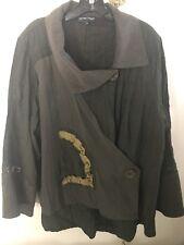 Jean Marc Philippe Women Bolero/Jacket Plus Size 18-20 Khaki Green Color