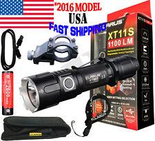 Klarus XT11S 1100 Lumen CREE XP-L HI V3 LED 18650 Battery + 45 Degree Gun Mount