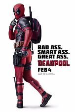 Deadpool Movie Poster (24x36)- Ryan Reynolds, Karan Soni, Ed Skrein, Colossus v2