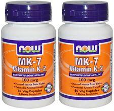 NOW Vitamin MK-7 K-2 100 mcg (2 Pack)