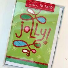 NEW Hallmark Jolly Christmas Holiday Cards Fun Funky (16 Cards) Sparkles