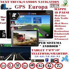 "PROGRAMMA NAVIGAZIONE CAMION ""NEXT TRUCK"" EUROPA PER DISP. TABLET / TELEFONO"