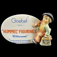 Vintage Goebel Hummel Merry Wanderer Figurine Authorized Collector's Plaque 1976