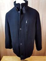 PAUL R SMITH MENS COAT JACKET BLACK ZIPPED BUTTONING L (26) WOOL CASHMERE